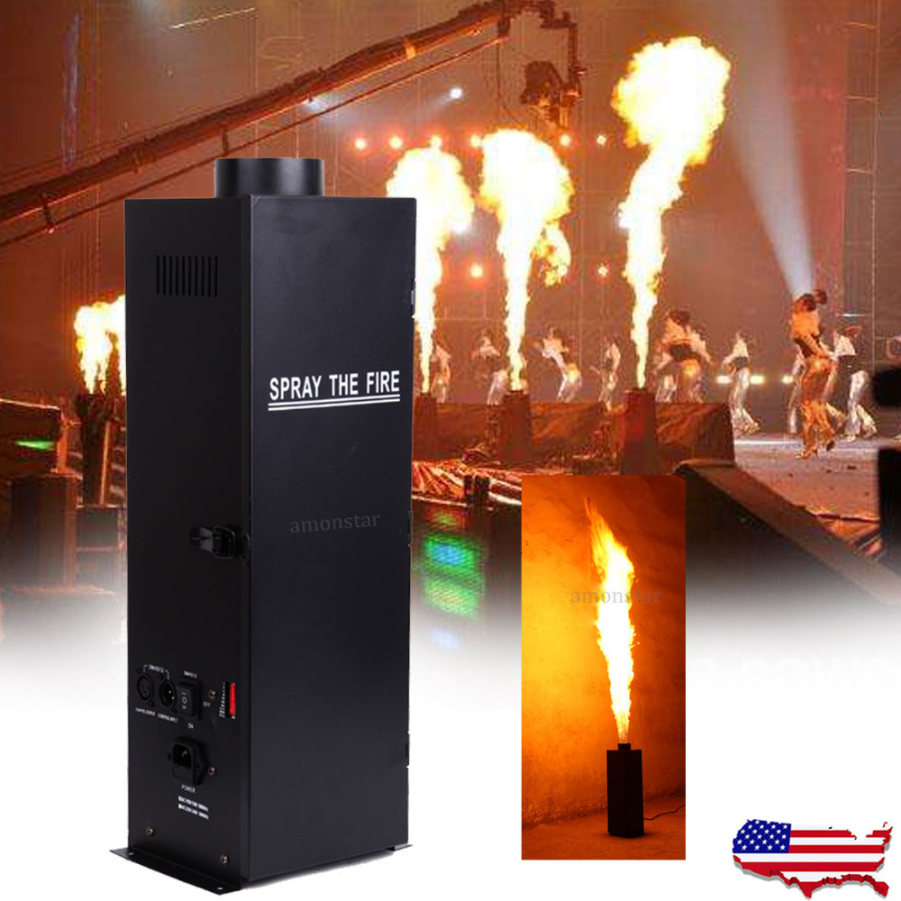 200W DMX Fire Effect Flame Thrower DJ Stage Projector Machine Show Party все цены