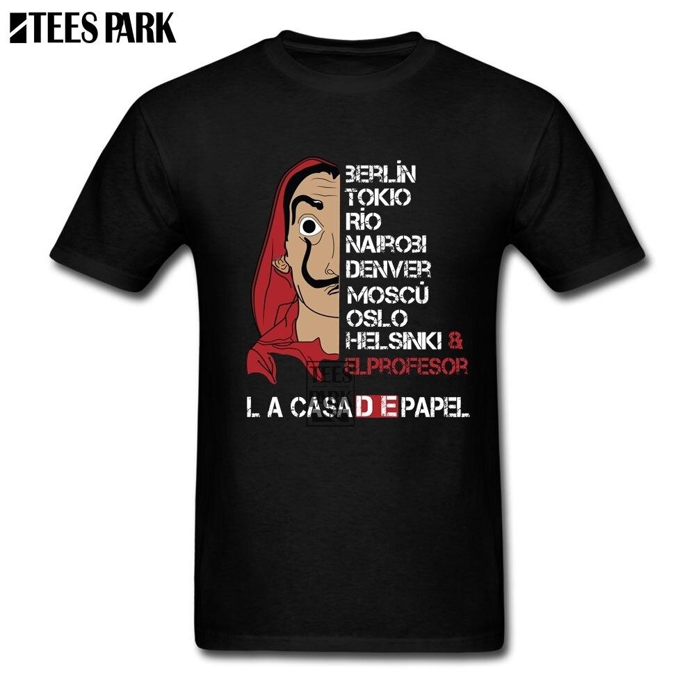 La Casa De Papel de L'argent Hold-Up TV Série Drôle T Shirts hommes Coton À Manches Courtes Maison de Papier T-Shirt T-Shirt de Haute Qualité hommes