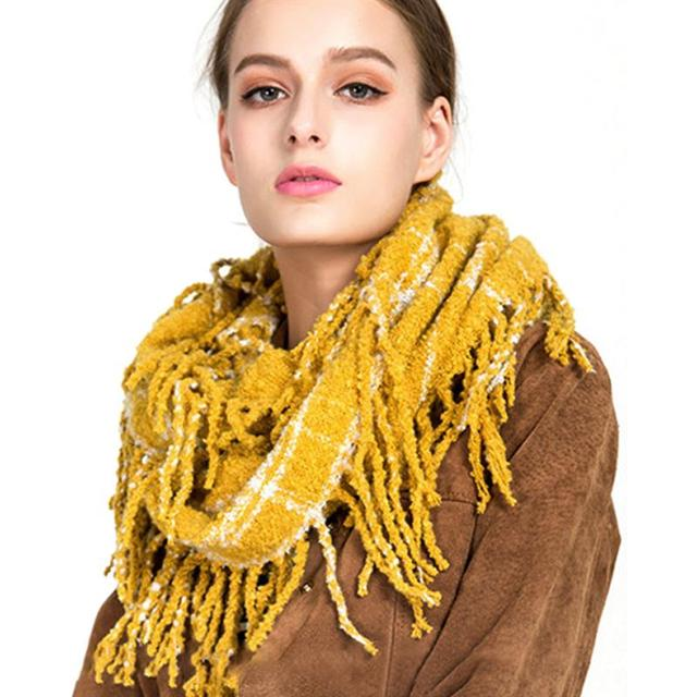 Vbiger Women Infinity Scarf Warm Loop Knitted Scarf Casual Winter