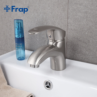 Frap New Arrival Deck Mounted Single Handle Basin Faucet Brushed Nickel Hot And Cold Water Mixer