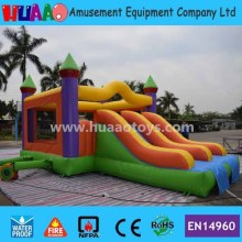 Double Lane Slide Inflatable Bouncer Castle with Free CE blower+repair kit