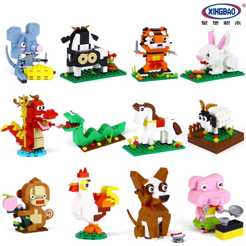 New XINGBAO 18001 The Chinese Zodiac Set LegoINGys Building Blocks Bricks Funny Educational Toys For Children As Birthday Gifts xingbao 01001 creative chinese style the chinese silk and satin store 2787pcs set educational building blocks bricks toys model