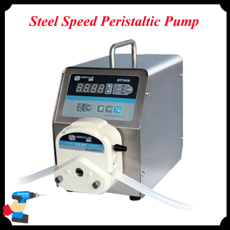 1pc Stainless Steel Speed Peristaltic Pump Led Digital Display Low Flow Precise Variable Pump for Water Pumps Fluid BT100S ZY15