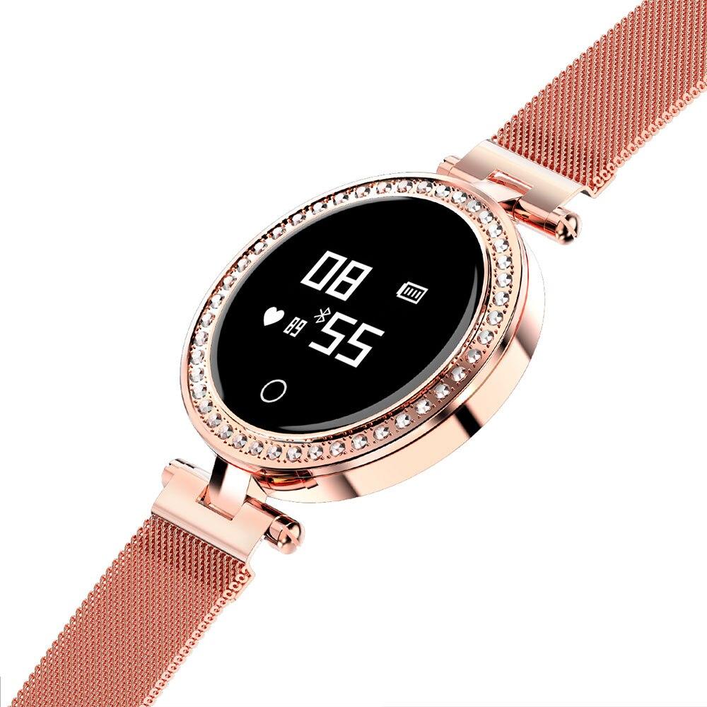 Mulheres smart watch Luxo X10 IP68 Senhoras smart watch com Strass Pulseira de fitness Pedômetro freqüência cardíaca Do Bluetooth Smartwatch