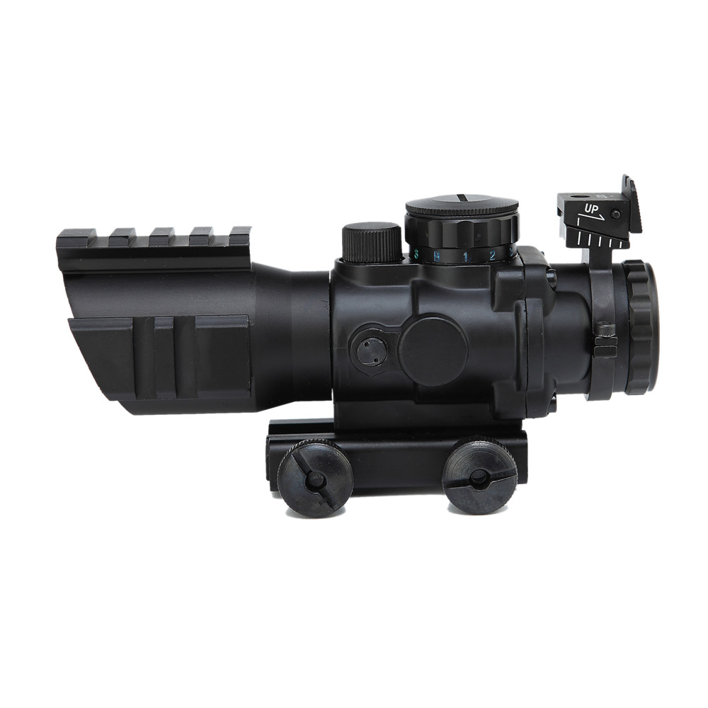 Tactical Optical Air Rifle Gun Sight 4X32 Compact Riflescope W/ Picatinny Rail Tri-Illuminated Reticle Hunting Rifle Scope ak 47 tactical quad rail picatinny handguard system cnc aluminum full length tactical for ak rifles 26cm hunting gun accessories