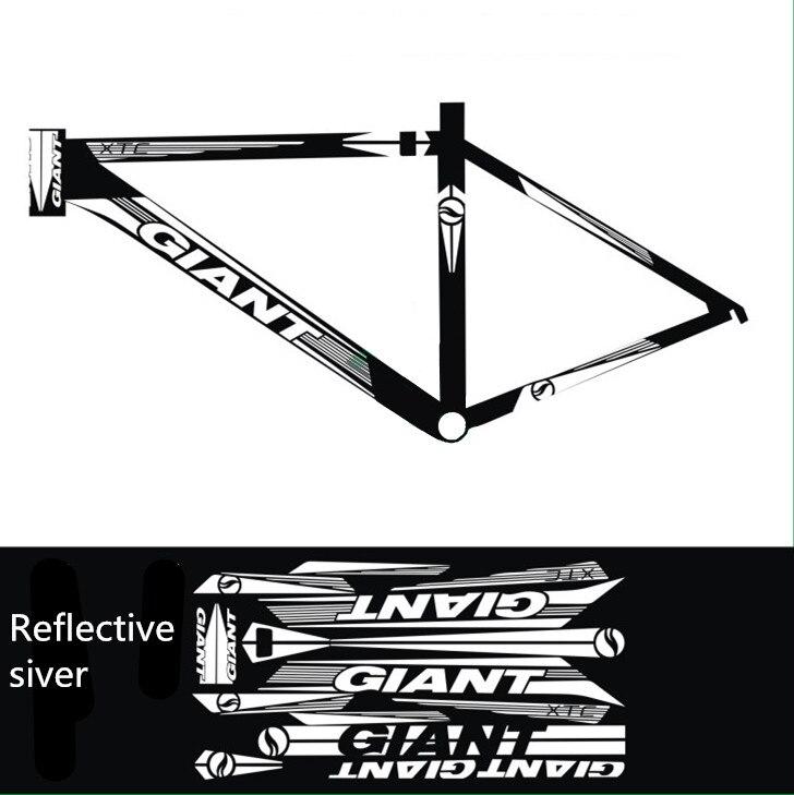 Pegatinas reflectantes o Irreflexiva Ciclismo Moto Calcomanías DIY ...