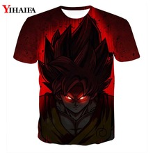 Men 3D Print T shirt Dragon Ball Z Black Goku Casual Tee Shirts Galaxy Super Saiyan Graphic Man Tops dragon ball t