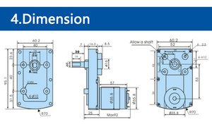 Image 4 - ASME 04B Ad alta potenza Ad alta coppia Servo Dello Sterzo 380Kg. cm DC 12 24 V Grande Manipolatore Robotico per Robot Braccio Meccanico XZ0033