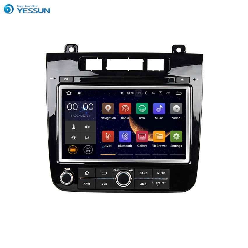 YESSUN Android Radio Car DVD Player For VW TOUAREG 2010 2016 Stereo Radio Multimedia GPS Navigation With WIFI Bluetooth AM/FM