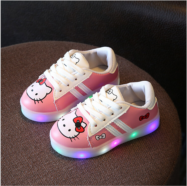 New-2017-Cool-LED-Lighted-Kids-Shoes-Fashion-SpringAutumn-Boys-Girls-Child-KT-Sneakers-Lovely-Baby-Lunimous-shoes-3-colors-2