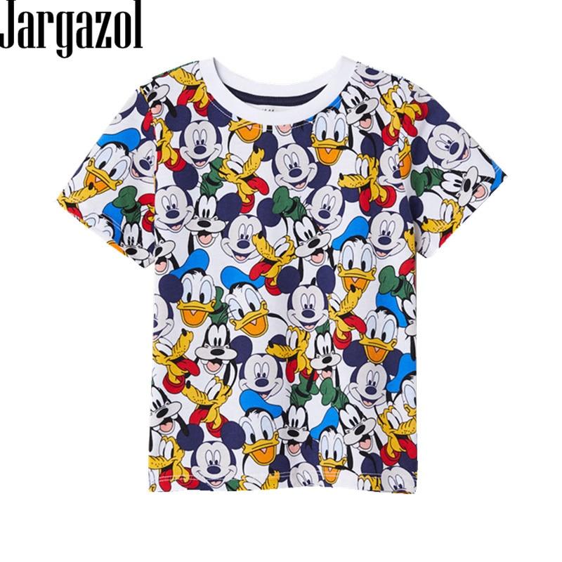 Jargazol Boy T-Shirt Tee-Tops Short-Sleeve Mickey-Printed Toddler Baby-Girl Cartoon Calsual