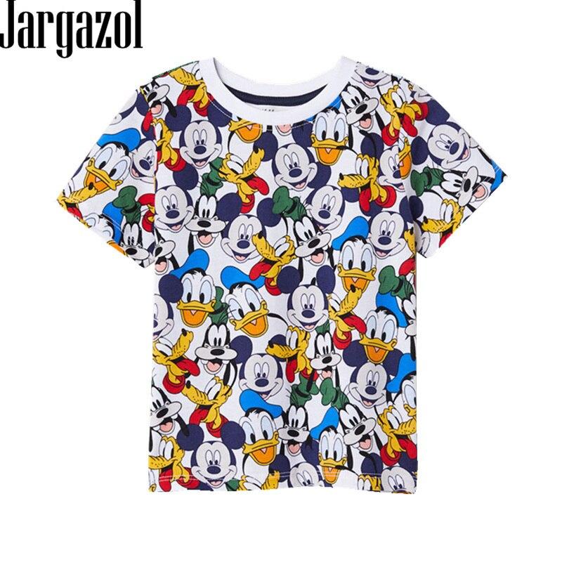 Jargazol Kleinkind Baby Mädchen Jungen T Shirt Vetement Enfant Fille Cartoon Mickey Gedruckt Kurzarm Camisetas Calsual T Tops