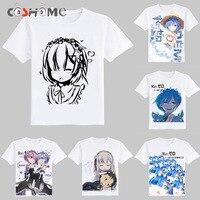 Coshome Re Zero Kara Hajimeru Isekai Seikatsu Ram Rem Cosplay T Shirts Costumes Emilia T Shirts