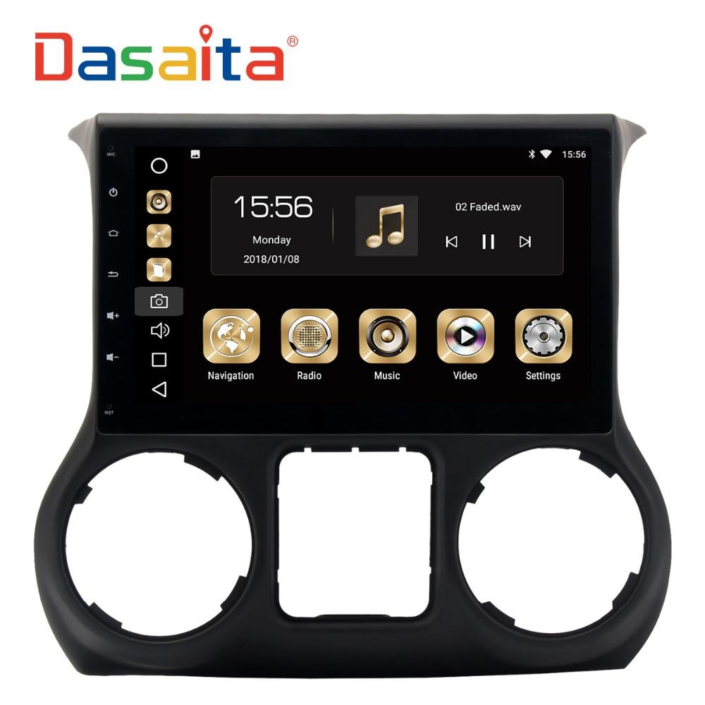 Dasaita 10.2 Android 8.0 Car GPS Radio Player for Jeep Wrangler 2015 2016with Octa Core 4GB+32GB Auto Stereo Multimedia