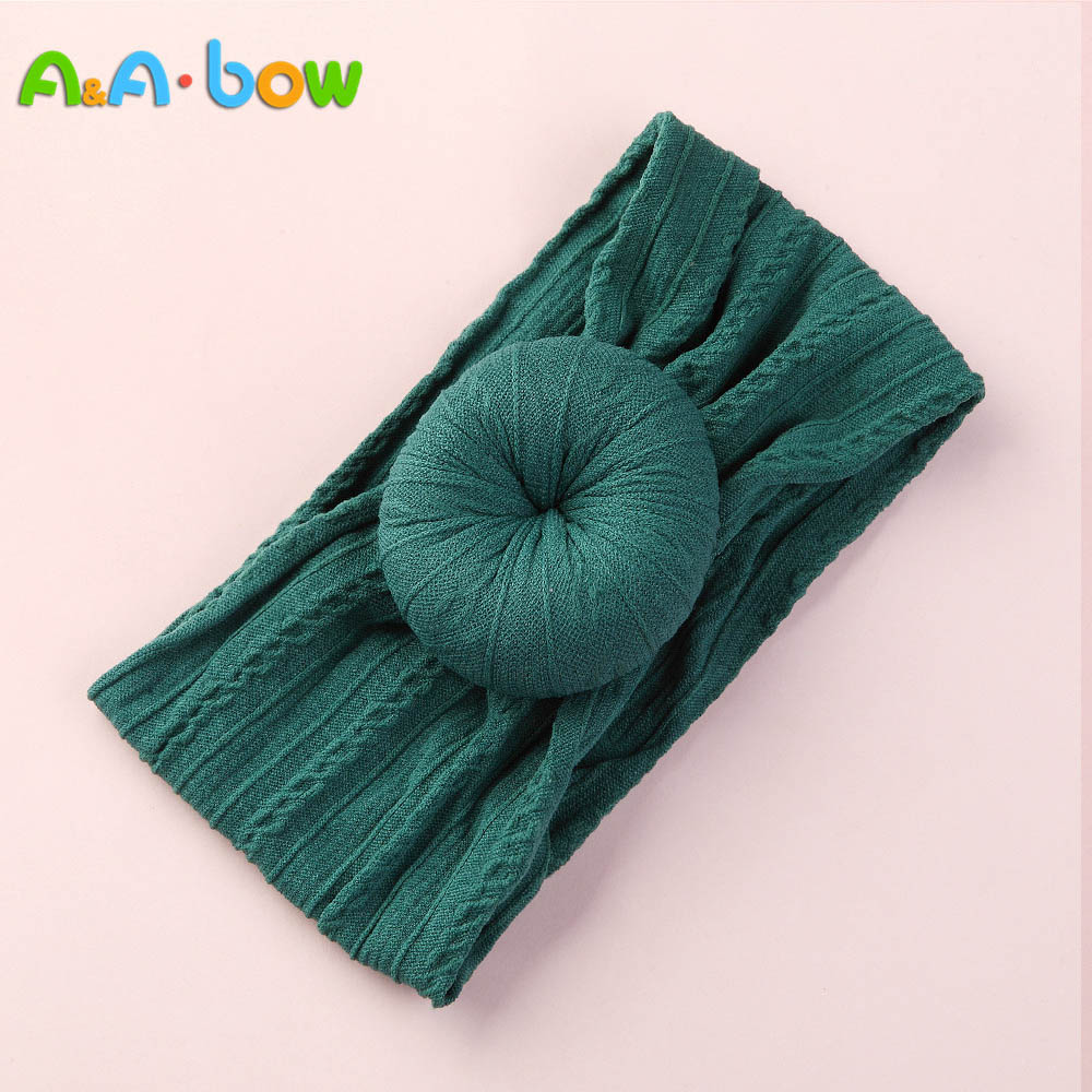 A&A BOW 1pcs Cable Knit Donut Nylon Headbands fits winter
