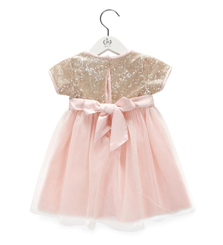0874f1098b Baby Wow Golden Sequined Summer 1 Year Birthday Dress Vestido Infantil  Cotton Girls Princess For 0-6 Years Toddler 8012