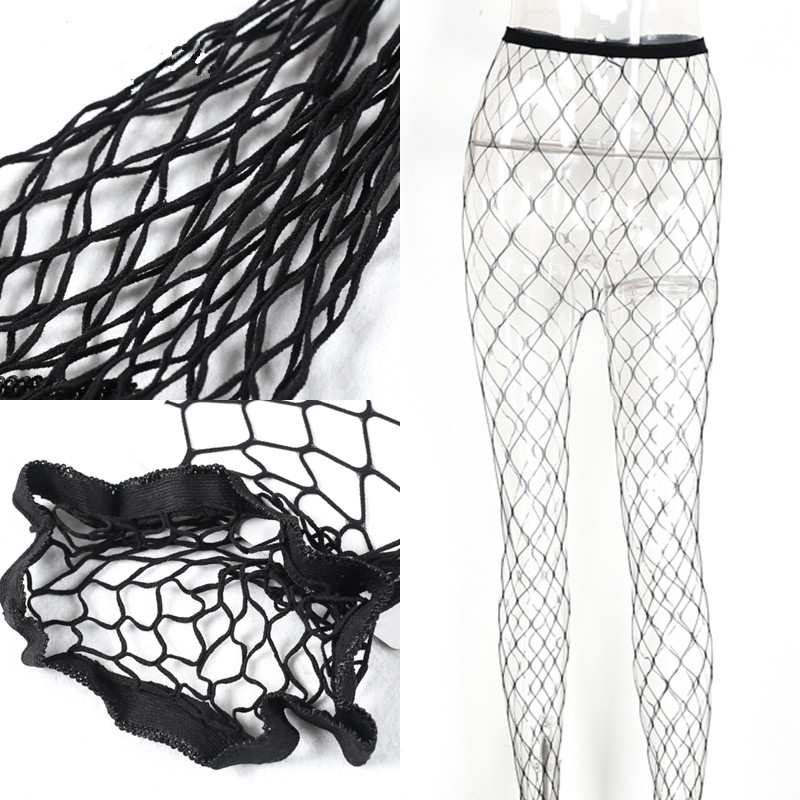 Sexy Black High Waist Fishnet Pantyhose 2017 Hollow Out Female Stocking Pantys Medias Sexy Club Party Hosiery
