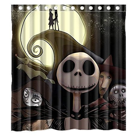Bathroom Shower Curtains The Nightmare Before Christmas Cool 180x180cm Eco Friendly Waterproof Fabric Curtain