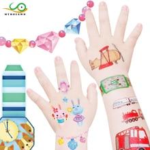 MYHOESWD Art Child Tattoo Sticker Animals Dinosaurs Traffic Jewelry for Girls Pegatina Falsa Flash Kids Tatoo Stickers Temporary