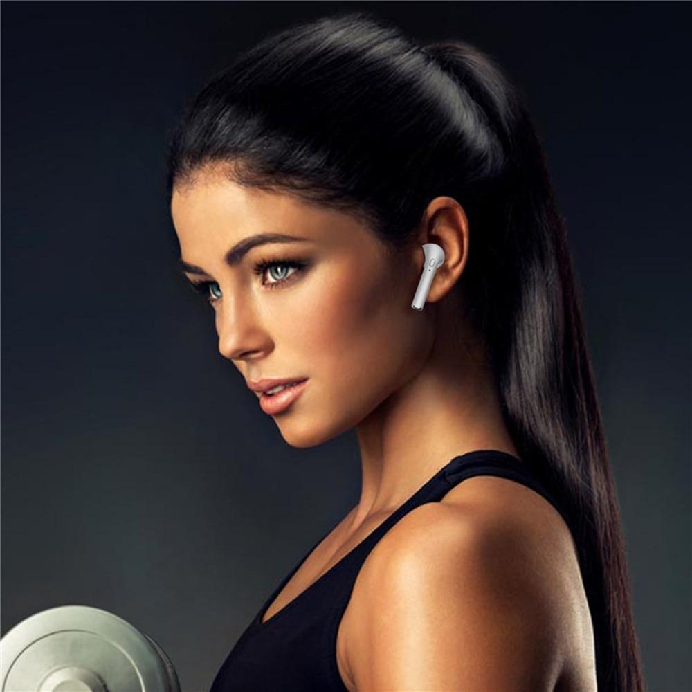 Hot i7 TWS Twins Wireless Earphones Mini Bluetooth V4.2 Earbuds Stereo Headset Headphone Earpiect Earset For Iphone X 5S 8 PLUS 7 plus 7 6s 6 plus Galaxy S8 Samsung Xiaomi Huawei Meizu LG PC Girl Children Women (