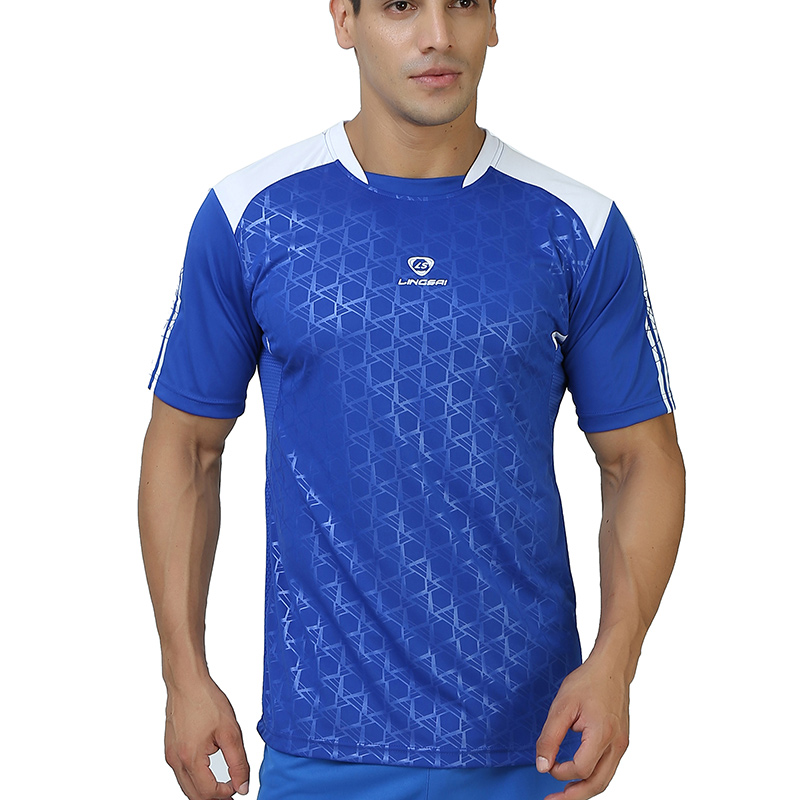 Hot Sport t shirt men Tops Tees Running Shirt Men's T-shirt Training Badminton short Sleeve Gym Fitness Soccer Jerseys hiking trendy men s round neck geometric print short sleeve t shirt