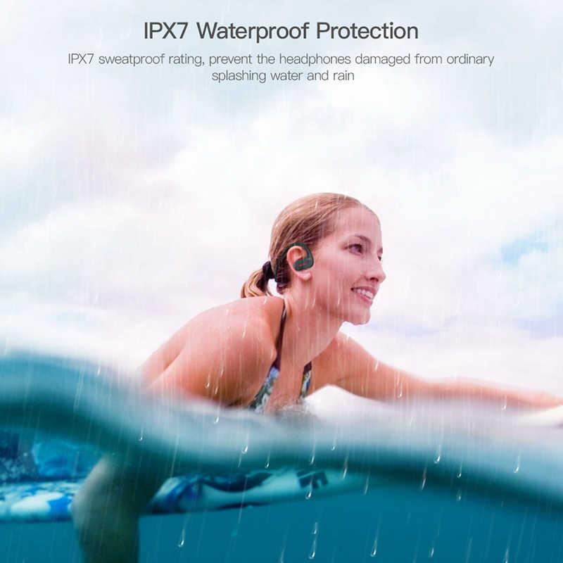DACOM L05 sport zestaw słuchawkowy bluetooth bezprzewodowe słuchawki do biegania IPX7 wodoodporne słuchawki z pałąkiem na kark zestaw głośnomówiący do telefonu K6H Pro BT5.0