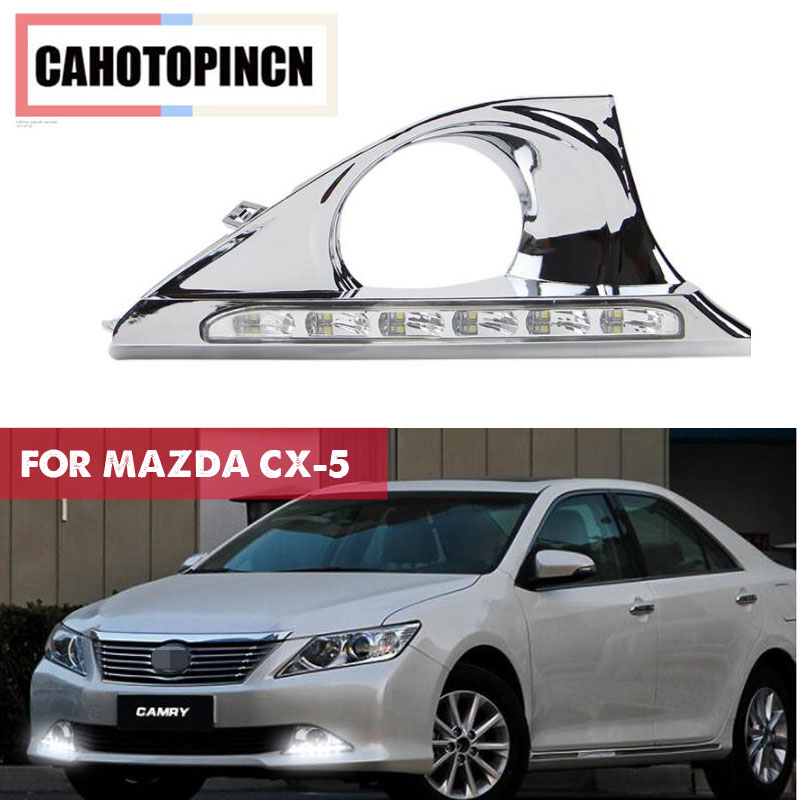 For Toyota Camry 2012 2013 2014 Auto Accessories High Power LED DRL Daytime Running Lights Daylight