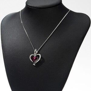 Image 3 - Neoglory áustria cristal & strass longo charme pingente colar de declaração duplo amor corações presente na moda para as mulheres diariamente