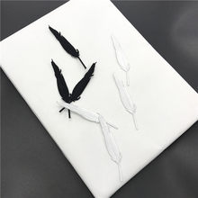 5pcs White Black Feather Wing Embroidery Patches for Clothing Iron on Clothes Jeans Coat Appliques Badge Stripe Sticker(China)