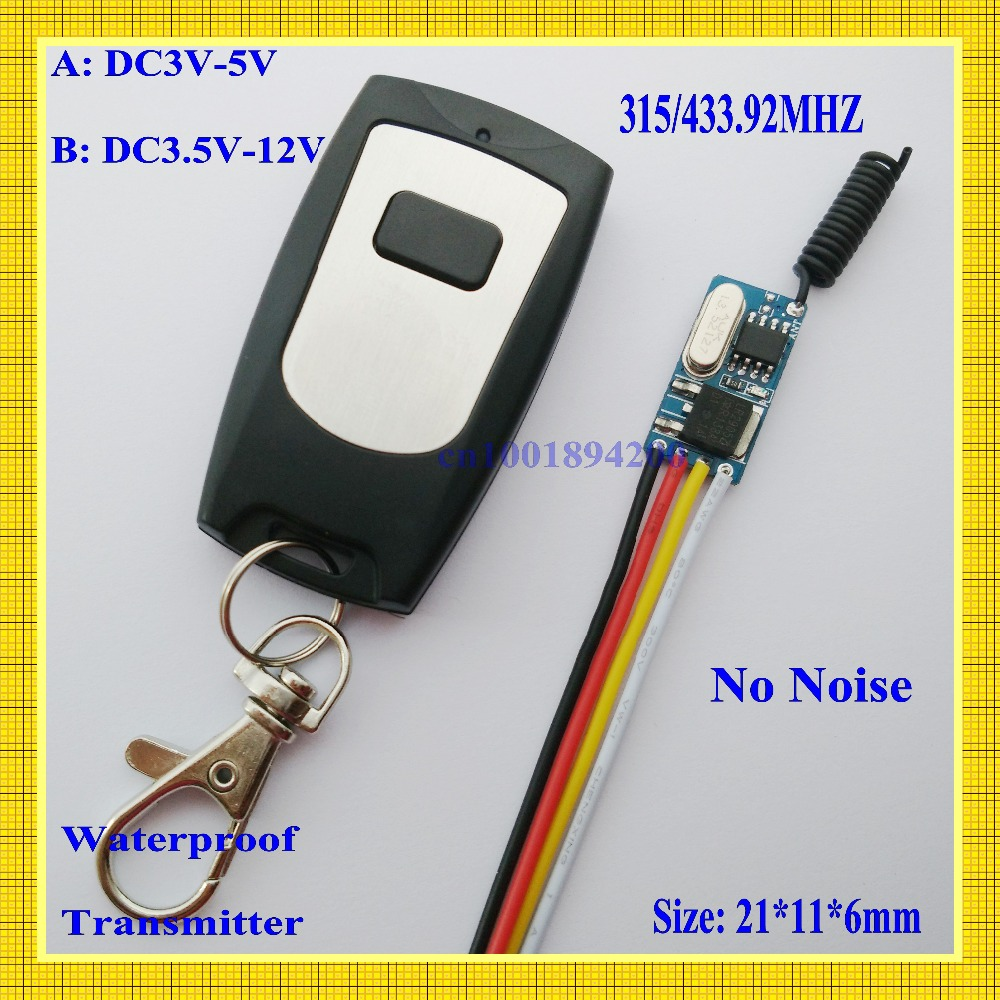 DC3V 3.3V 3.7V 4.5V 5V 6V 9V Mini Receiver Micro ultrathin Remote Control Switch +Waterproof Transmitter M4 T4 Learning Cod cltgxdd aj 131 micro switch 3 5 3 1 8 for citroen c1 c2 c3 c4 c5 c6 c8 remote key fob repair switch micro button