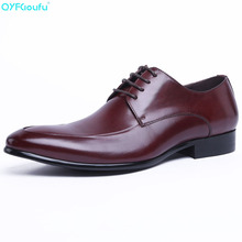 Brand Men Business Shoes British Dress Office Formal Pointed Toe Casual Fashion Genuine Leather