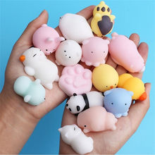 25 stks/pak Squishy Squeeze Mochi Kat Koala Antistress Squishes Shark Squishies Dieren Set Anti stress Grappig Speelgoed voor Kinderen(China)