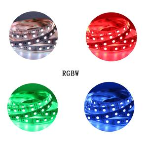 Image 5 - 12mm PCB RGBCCT LED Şerit 5050 12 V/24 V 4in1 5 Renkler 5 in1 Cips RGB + WW + CW 60 LEDs/m 5 m/grup RGBW RGBWW LED Şerit Işık 5 m/grup.