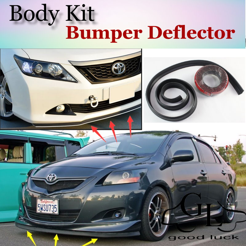 For TOYOTA Belta Yaris Vios Limo Bumper Lip / Front Spoiler Scratch Proof Adhesive / Body Kit / Strip Skirt