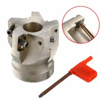 1pc 50mm BAP400R 50 22 5F Face Mill 5 Flute Indexable Milling Cutter With T15 Wrench