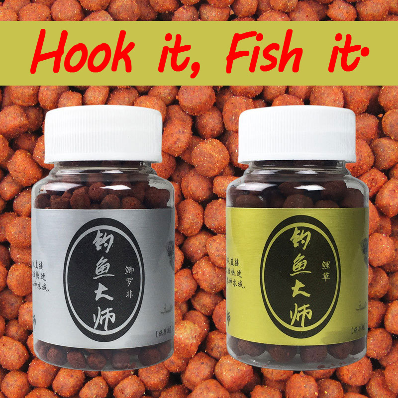 1 Bottle 45g 6mm 9mm Fish Master Boillie Bait Ball Carp Freshwater Fishing Baits ...