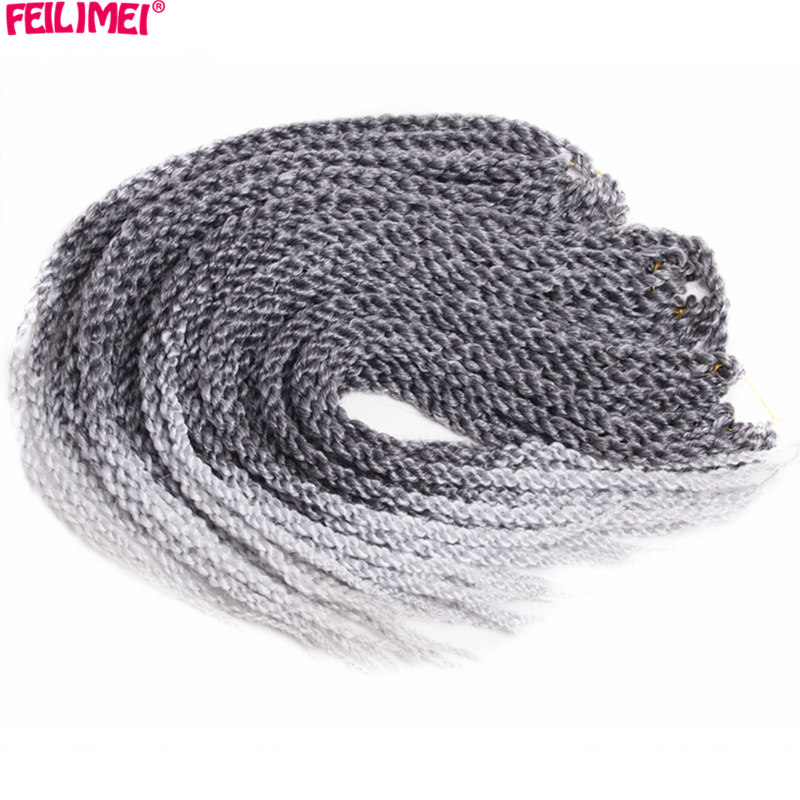 Feilimei Ombre Gray 3d Cubic Twist Braiding Hair