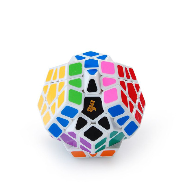 V3 Mf8 Megaminx Dodecahedron cubo mágico De Plástico Envío Gratis Educación Twisty magico cubo Blanco Cubo Mágico Regalo de año Nuevo