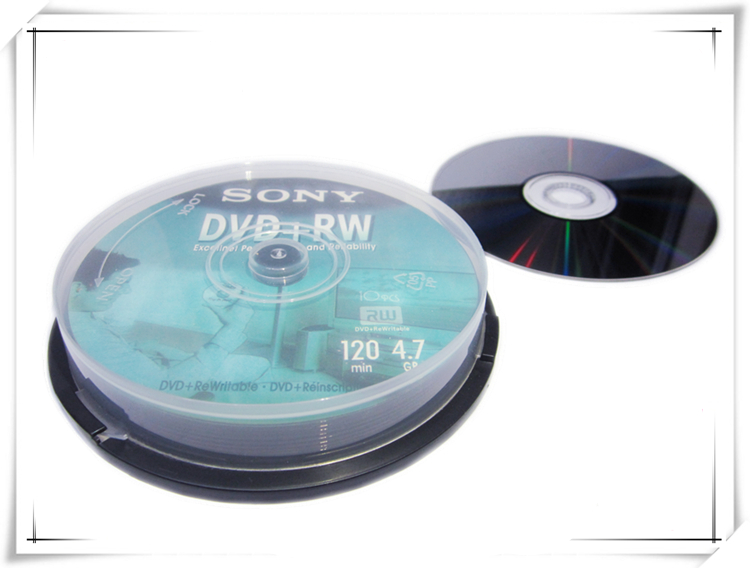 Slobbery image in printable dvd disc