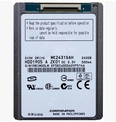 1.8 ZIF/ CE 240GB Hard disk drive MK2431GAH For Handycam HDR-XR520E XR550E XR150e Camera HDD dhl free shipping in stock new arrival english version ds 2cd2142fwd iws 4mp wdr fixed dome with wifi network camera