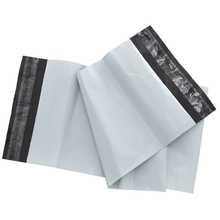 100pcs/lot 17x26+4cm White Express Shipping Packing Plastic Courier Bag Retail Self Adhesive Envelope Mailer Package