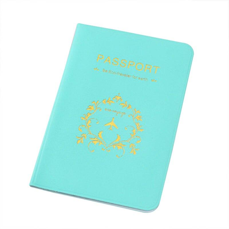 Söta Koreanska Kvinnor Pass Cover PVC Vattentäta Passväska - Plånböcker - Foto 3