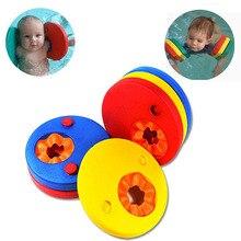 купить 6pcs EVA Foam Swim Discs Arm Bands Floating Sleeves Child Swimming Inflatable Pool Float Board Exercises Circles Ring Accessorie дешево