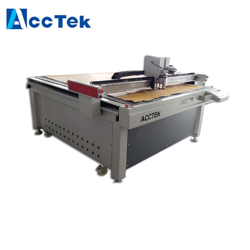 AccTek Factory CNC Vibrating <font><b>Knife</b></font> Cutting Machine For Leather Fur Food <font><b>Bat</b></font> Paper Carton CNC Oscillating <font><b>Knife</b></font> Machine image