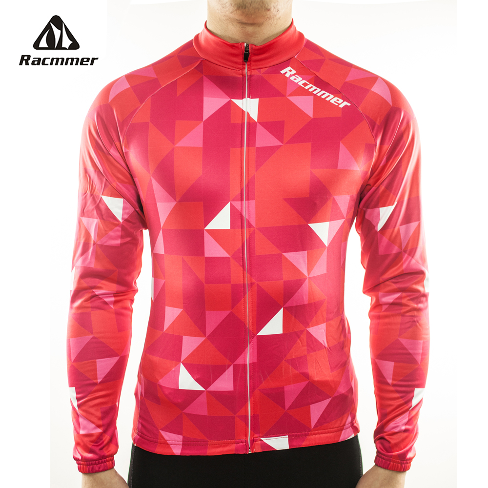 Racmmer 2019 Mens Long Sleeve Cycling Jersey Mtb Cycling Clothing Bicycle Maillot Ropa Ciclismo Sportwear Bike Clothes #CX-03