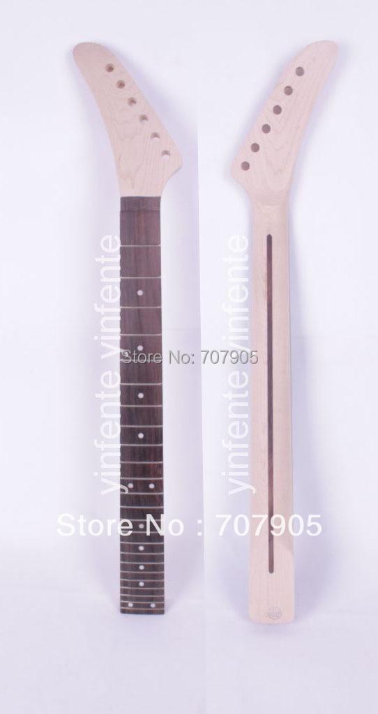 1x Unfinished guitare électrique Manche Érable Bois Palissandre Truss Rod 24 frette 25.5