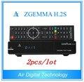2pcs/lot Super Sale!!! Zgemma H.2S FTA Satellite Receiver Linux OS Enigma2 DVB-S2+S2 Twin Tuners