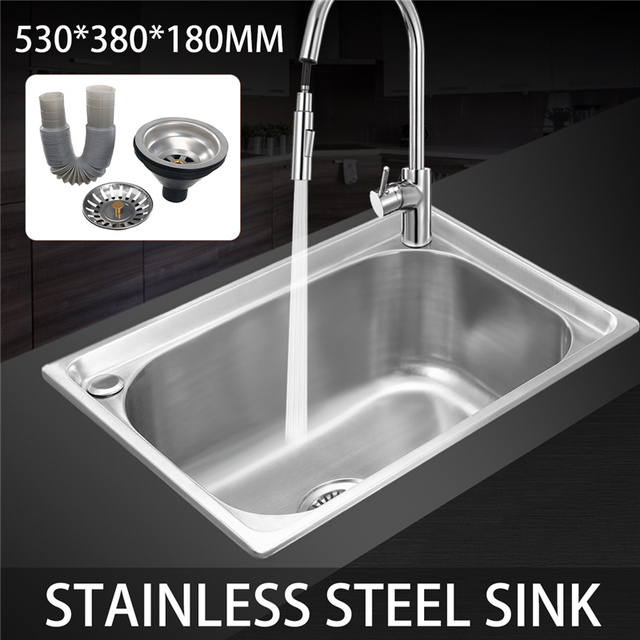 Xueqin 530x380x180mm Wiredrawing 304 Stainless Steel Kitchen Sink ...