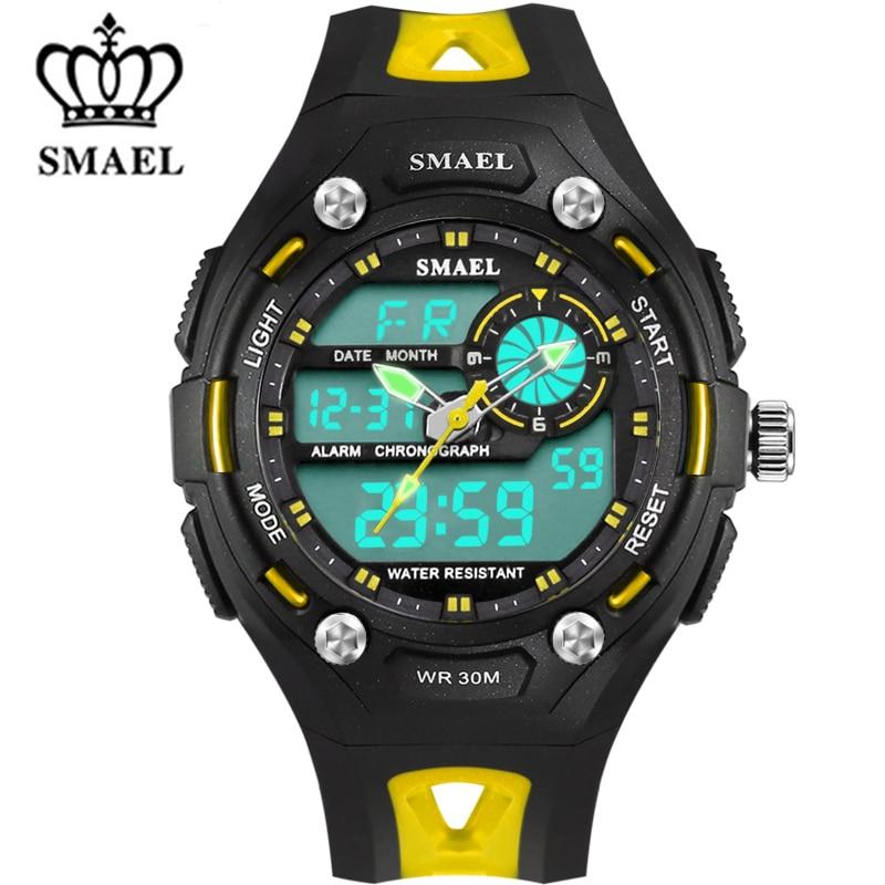 Children Analog Digital Watches 30M Waterproof Sport Wrist Watch Jelly Cartoon Watches Kids Digital LED Wristwatch