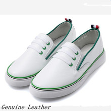 Genuine Leather Casual Flat Shoes Women Oxfords Shoes Loafers Slip-on Dockside Comverse shoes